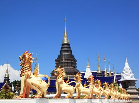 Wat Ban Den chiangmai province Thailand sanctuary. Stock Photo