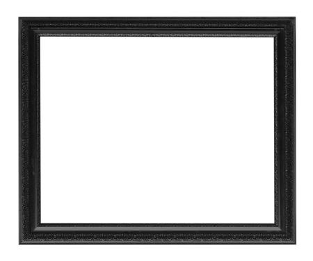 白い背景の分離された黒い額縁。 写真素材 - 32318131