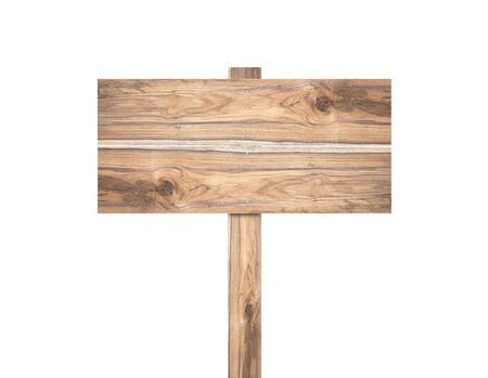 sign post: Old wooden sign isolated on a white background.