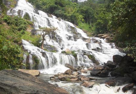 water stone: Mae Ya Doi Inthanon wild nature water stone.