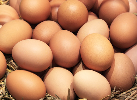 Eggs Many eggs foods with high vitamin sphere. Stock Photo