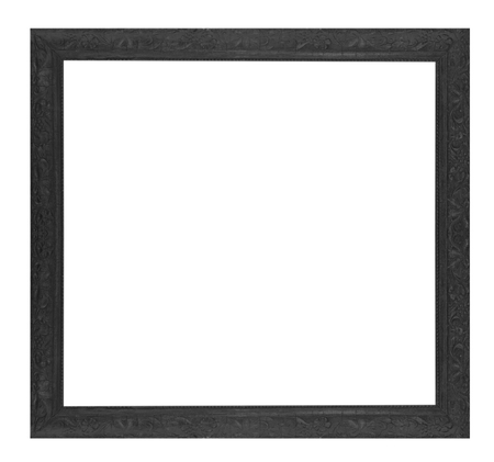 Old wooden frame isolated on white background. photo