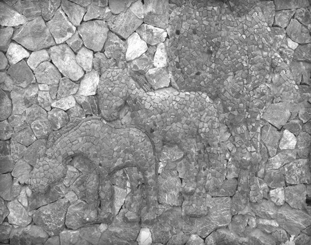 Old brick stone wall weathering weathered background texture.
