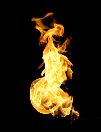 The red flames on a black background.