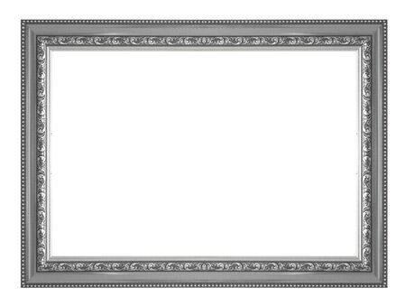picture frame: Silver picture frame isolated on white background.