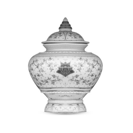antique vase: objects antique vase on the white background