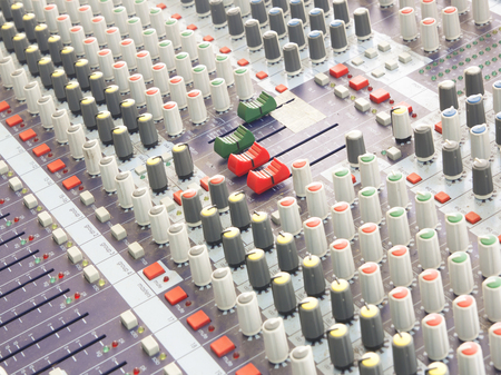 sound mixer: buttons equipment for sound mixer control music.