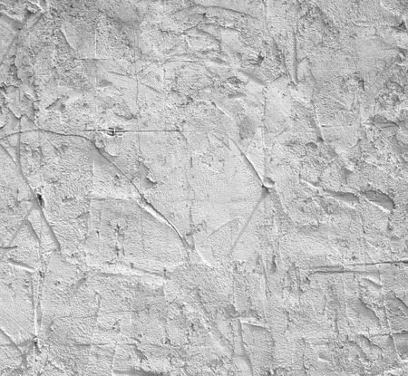 Rough plaster walls plastered uneven interior construction. Stock Photo