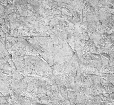 Rough plaster walls plastered uneven interior construction. Stock Photo