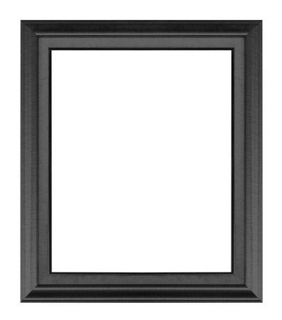 Old Antique black frame Isolated On White  Stock Photo