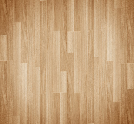 Hardwood maple basketball court floor viewed from above