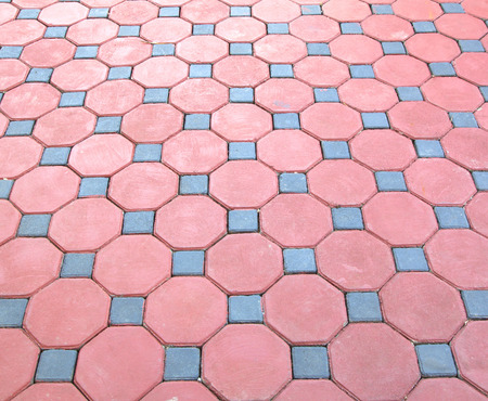 pathways: Pathways made from brick red abstract background. Stock Photo