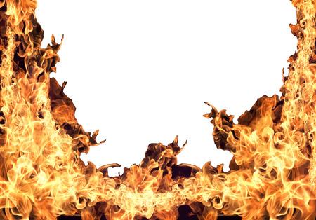 火災炎白い背景で隔離のコレクション 写真素材 - 41125294