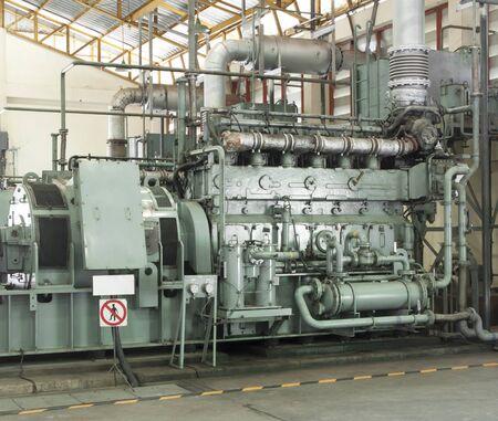 emergency generators. Diesel engine. Through use of industrial machinery.