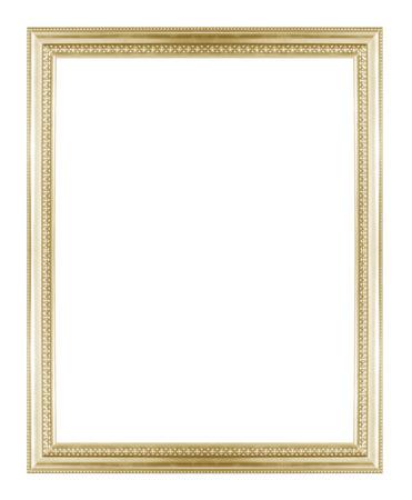 Or cadre photo isolé sur un fond blanc. Banque d'images - 42137304