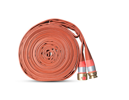 fire hoses: Fire hoses isolated objects on a white background.