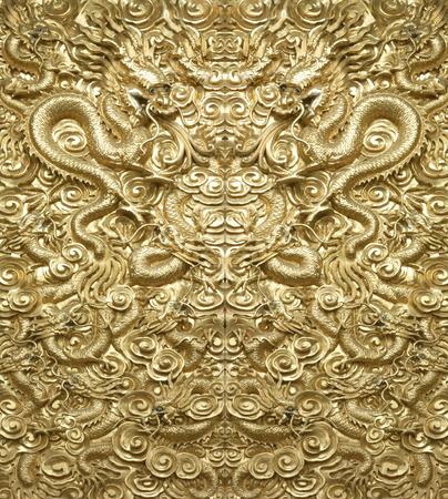 ゴールデンドラゴンの背景 写真素材 - 45715446