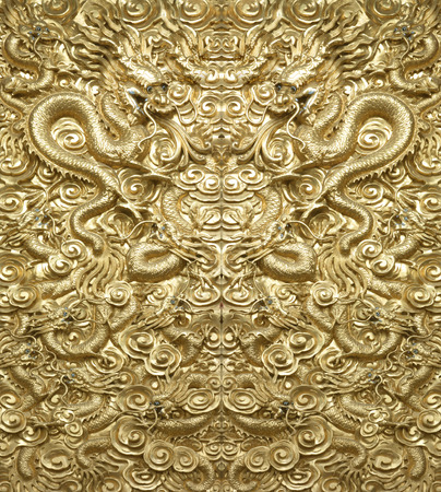 Achtergrond Golden Dragon Stockfoto