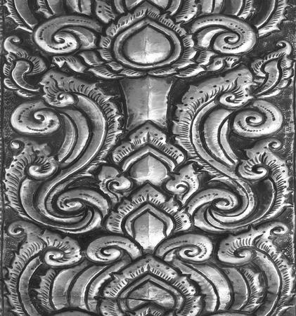 cubiertos de plata: El arte y el patr�n de plata tallado. Foto de archivo