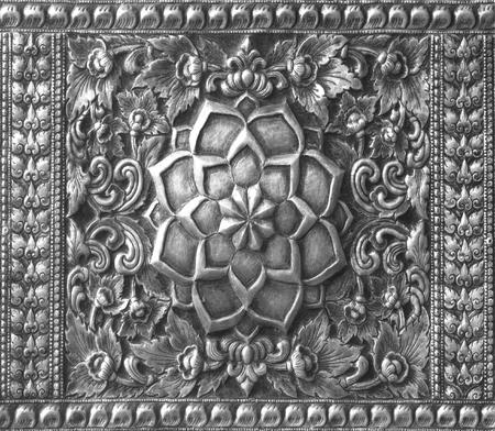 cubiertos de plata: El arte y el patrón de plata tallado. Foto de archivo