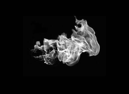 White smoke abstract background air water vapor. Stock Photo