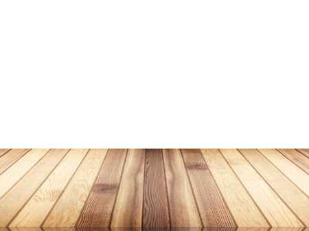 Wooden floor isolated on the white background.