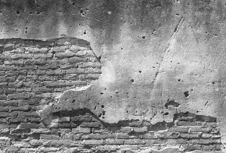 cracked concrete: Decayed, cracked concrete vintage brick wall background.