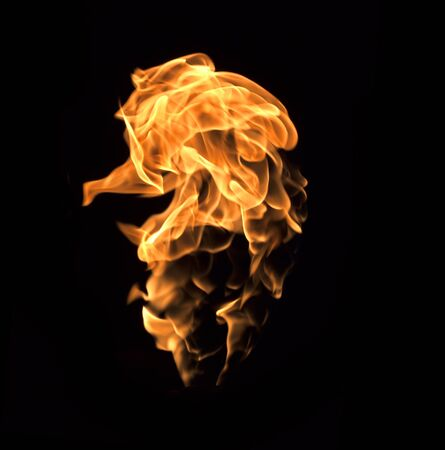 flame: The red flames on a black background.