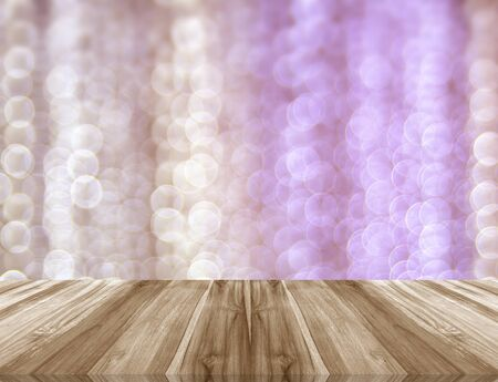 ligneous: Wood floors isolated on the background blurred. Stock Photo