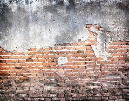 pared rota: Fondo de la pared de la vendimia hormig�n agrietado, viejo muro