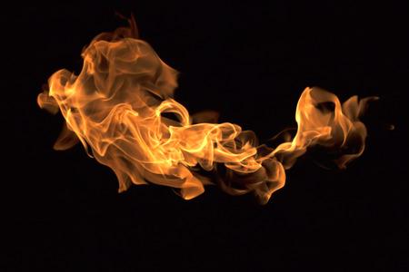 llamas de fuego: Colecci�n llamas de fuego aisladas sobre fondo negro