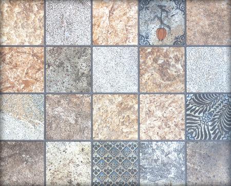 Piso de cerámica y azulejo de la pared de la construcción edificio fondo