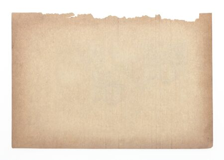 oldened: Old paper brown isolated on white background.