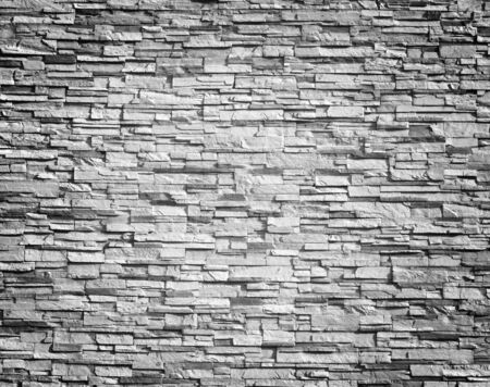 concrete surface finishing: Elegant stone wall from small square parts