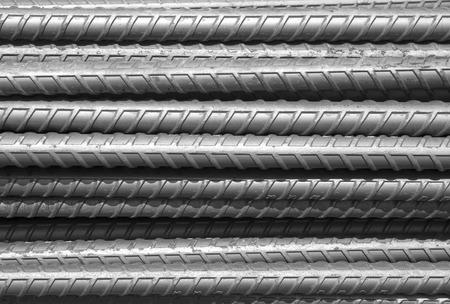 reinforcing: reinforced steel iron rod, heavy metal rust.