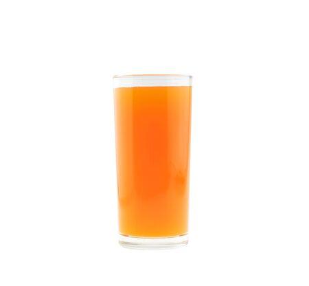 tangerine: Glass of orange juice, tangerine  isolated on white background.