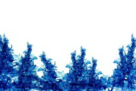 color in: flujo suave del color azul en el agua Foto de archivo