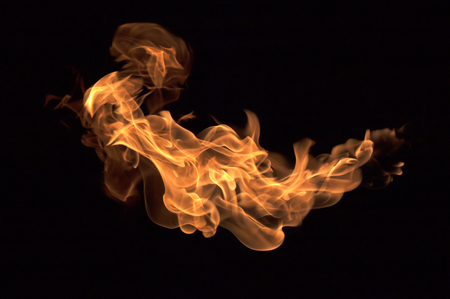 broil: The red flames on a black background.