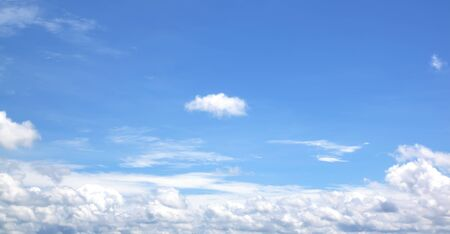 fresh air: Sky white clouds background abstract nature fresh air Stock Photo
