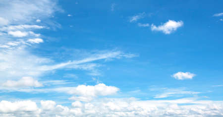 fresh air: Sky white clouds background abstract nature, fresh air. Stock Photo