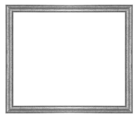 rummage: Vintage picture frame isolated on white background