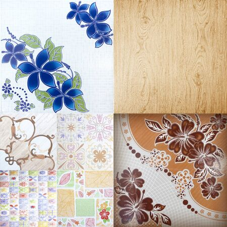 decorative patterns: tiles abstract background ceramic surface object industry.