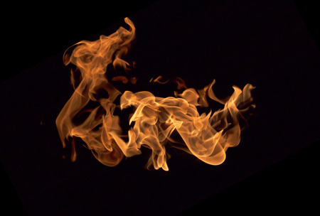 hellfire: Fire flames collection isolated on black background