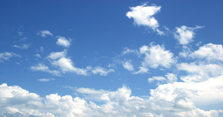 nebulosity: Blue sky white clouds Abstract nature skies Textured pattern background sky.