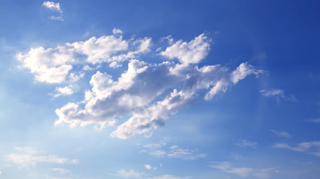 Sky white clouds background abstract nature, fresh air. Stock Photo