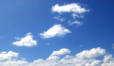 Sky, white clouds background abstract nature, fresh air.
