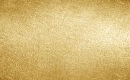 光沢のある黄色葉金箔テクスチャ背景