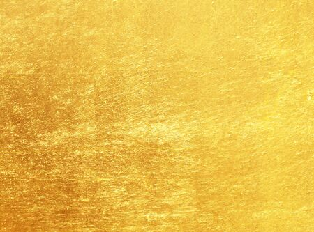 gold textured background: Shiny yellow leaf gold foil texture background