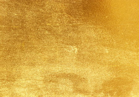 brushed steel: Shiny yellow leaf gold foil texture background