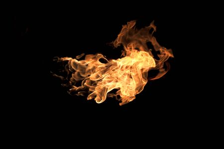 gas fireplace: Flame heat fire abstract background black background